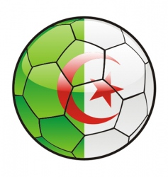 flag of Algeria on soccer ball vector image