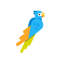flat style of parrot vector image