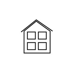 house with windows icon vector image