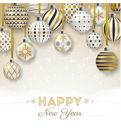 new year background with colorful ornate balls vector image vector image