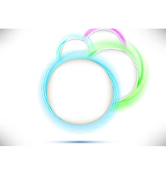 Perspective view with colorful circles vector image vector image