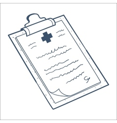 Prescription case history card isolated on white vector image