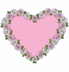 rose heart vector image vector image