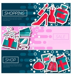 Set of Horizontal Banners about shopping vector image vector image