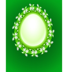 spring egg composition vector image