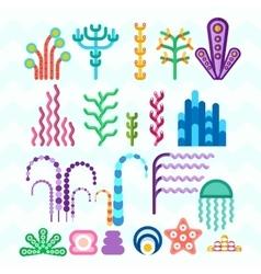 underwater coral plants vector image vector image