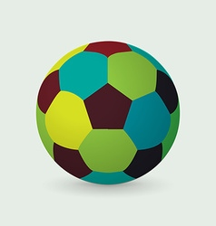 Unique colorful soccer ball vector image