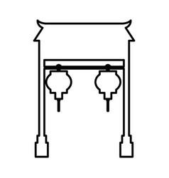 asian portal culture icon vector image