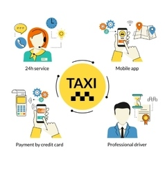 Booking taxi vector image vector image