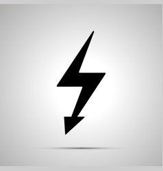 electricity symbol simple black power icon vector image