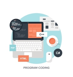 Program Coding vector image
