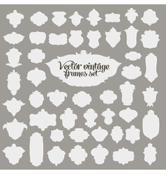 set of 50 vintage textured frames vector image