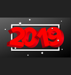 2019 red sign numbers 2019 holiday new vector