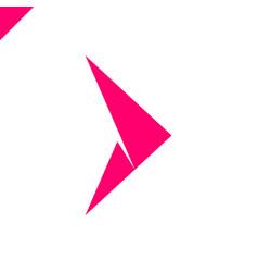 abstract arrow icon logo design template vector image