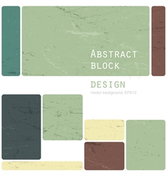 abstract block design retro vector image