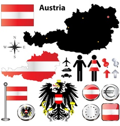 Austria map vector