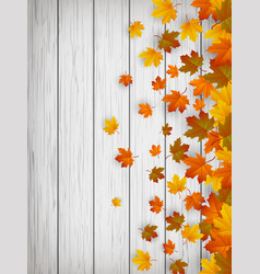 autumn background with falling leaves red yellow vector image