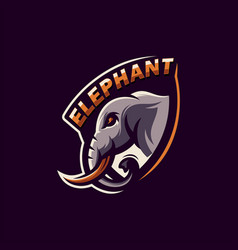 awesome sports elephant logo design vector image