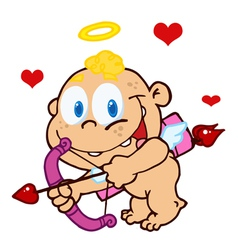 baby cupid ready to do some match making vector image