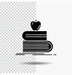 back to school school student books apple glyph vector image