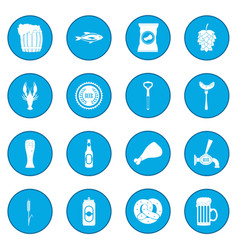 Beer icon blue vector