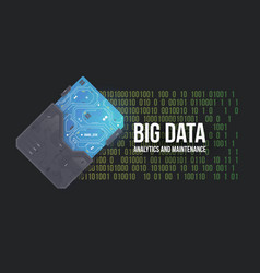 Big data abstract background high tech circuit vector