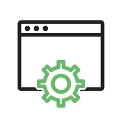 Browser Settings vector image