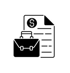 Business broker black linear icon vector