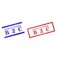 Business to customer b 2 c textured scratched vector