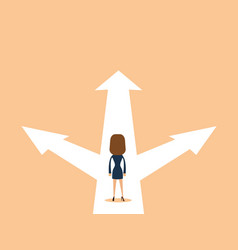 Business woman decision concept vector