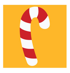 candy cane on white background vector image