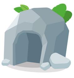 Cave flat vector