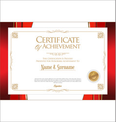 Certificate or diploma retro vintage design 083129 vector