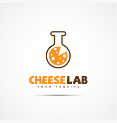 Cheese lab logo vector