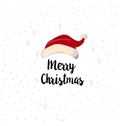 Christmas Typographic and Santa hat Bob up vector