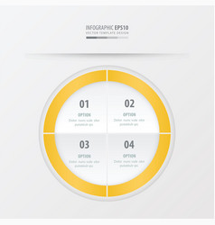 circle presentation template yellow color vector image