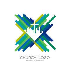City cross jesus christ vector