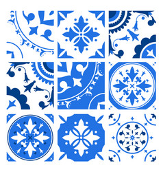 Collection of ceramic tiles with different vector
