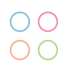 colorful stitched circle shape vector image