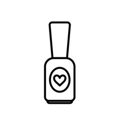 cosmetic nail polish icon on white background vector image