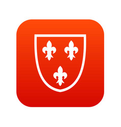 Crest icon digital red vector