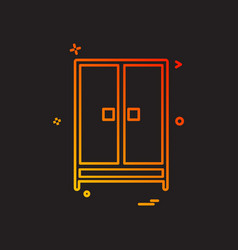 cupboard icon design vector image