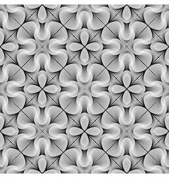 Design seamless monochrome flower pattern vector
