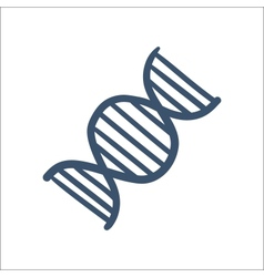 DNA symbol isolated on white vector