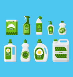 Eco friendly cleaning products vector