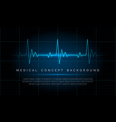 emergency ekg monitoring vector image