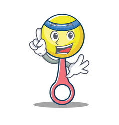 Finger rattle toy mascot cartoon vector