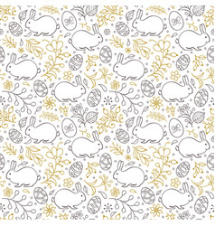 Floral easter pattern vector
