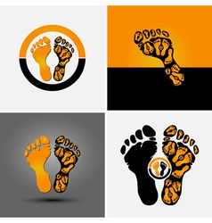 footprint vector image