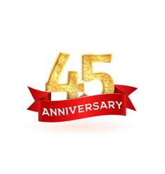 Forty-five anniversary luxury logo template vector